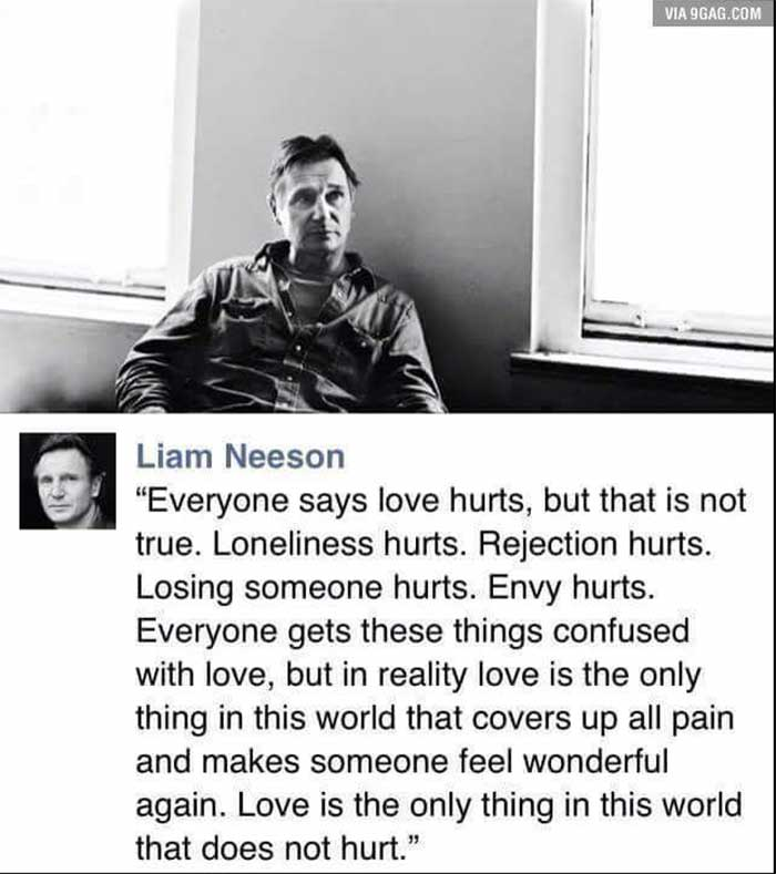 liam neeson love quote to save a life